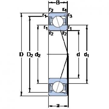 SKF S71911 CD/HCP4A angular contact ball bearings