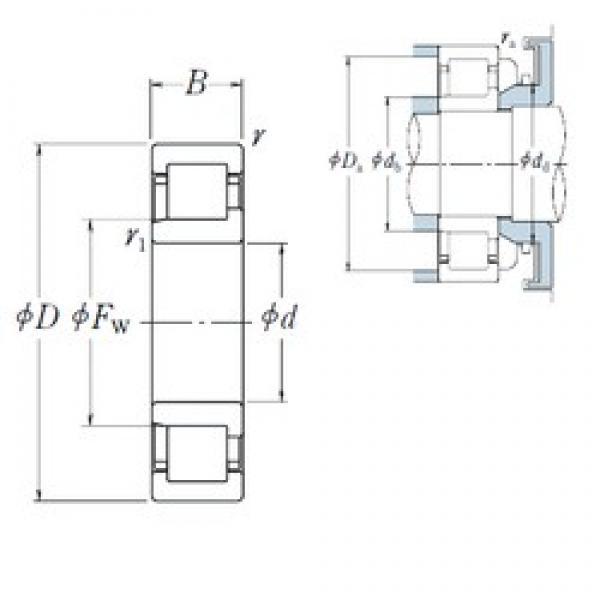 NSK NJ2311 ET cylindrical roller bearings #3 image