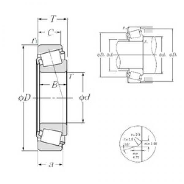 NTN 4T-LM503349A/LM503310 tapered roller bearings #3 image