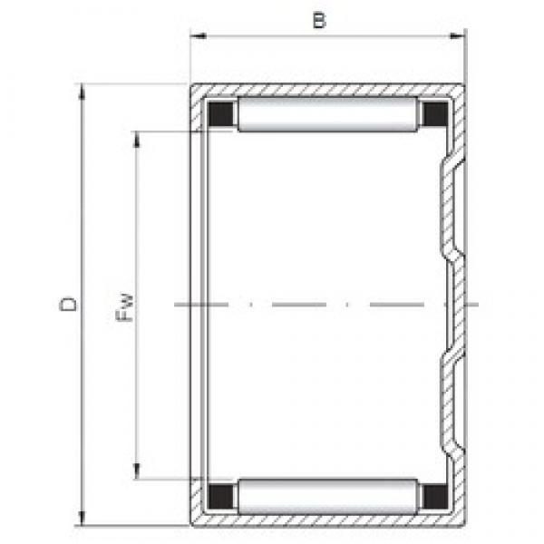 ISO BK405018 cylindrical roller bearings #2 image