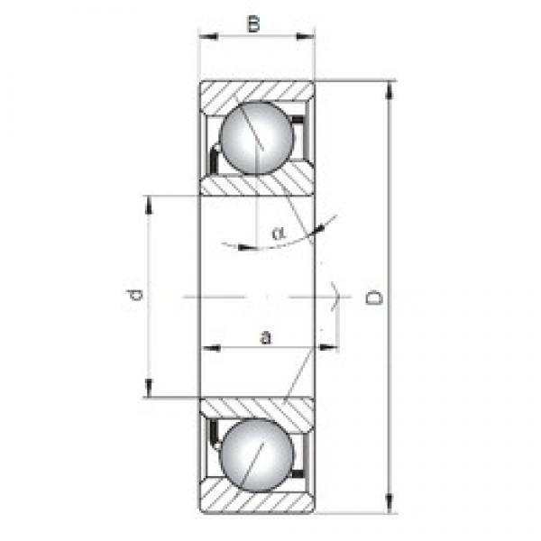 ISO 7016 A angular contact ball bearings #2 image