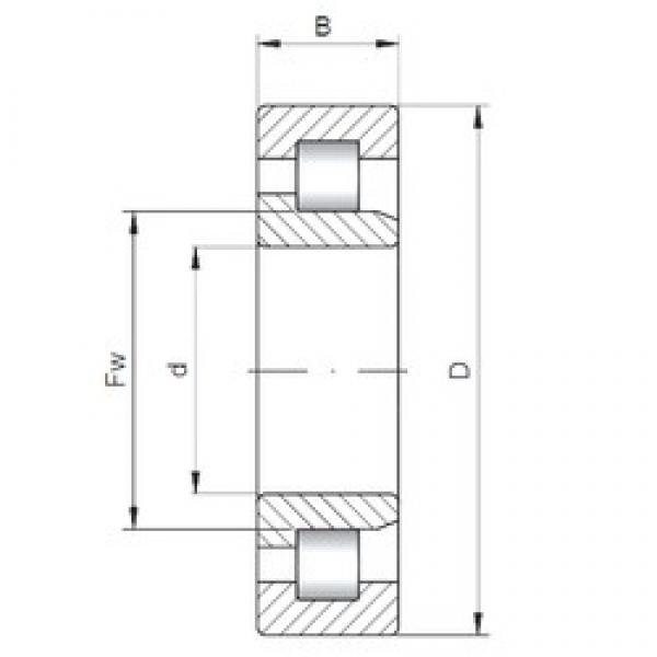 ISO NJ3856 cylindrical roller bearings #2 image