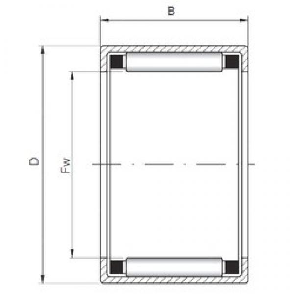 ISO HK091514 cylindrical roller bearings #2 image