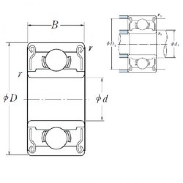 NSK 689 ZZ1 deep groove ball bearings #3 image