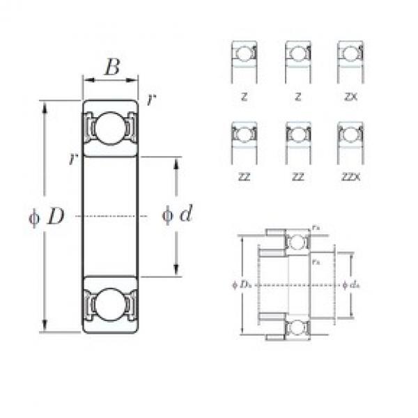 KOYO 6228ZZX deep groove ball bearings #2 image