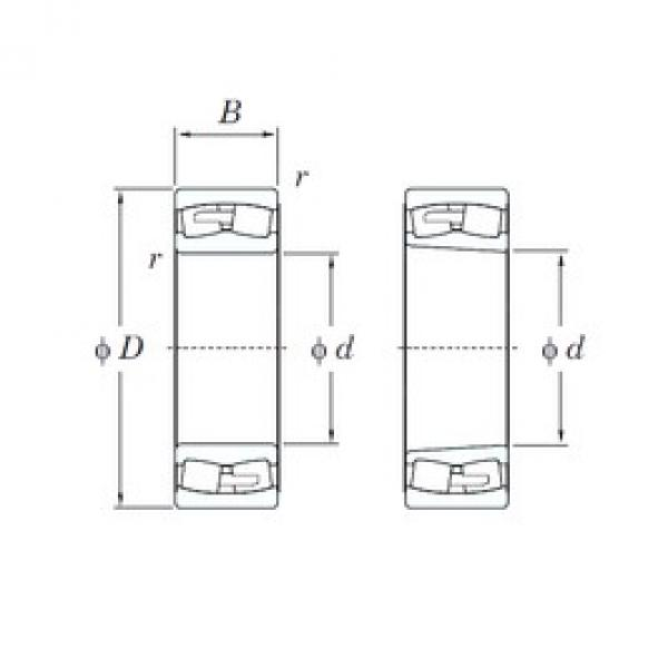 KOYO 24180RHAK30 spherical roller bearings #2 image