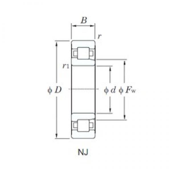 KOYO NJ306 cylindrical roller bearings #2 image