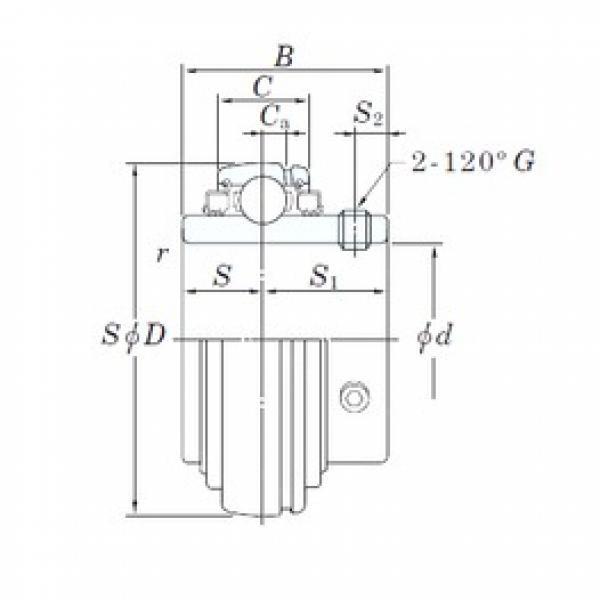 KOYO UC212-38L3 deep groove ball bearings #2 image