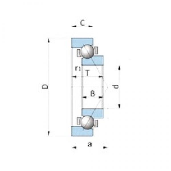 NSK BA180-4BWSA angular contact ball bearings #3 image