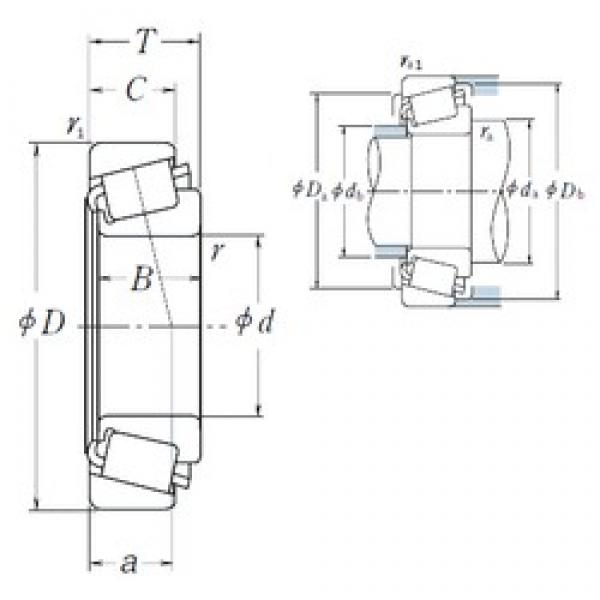 NSK LM328448/LM328410 tapered roller bearings #3 image