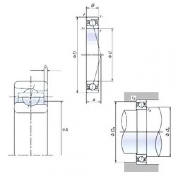 NSK 100BNR19S angular contact ball bearings #3 image