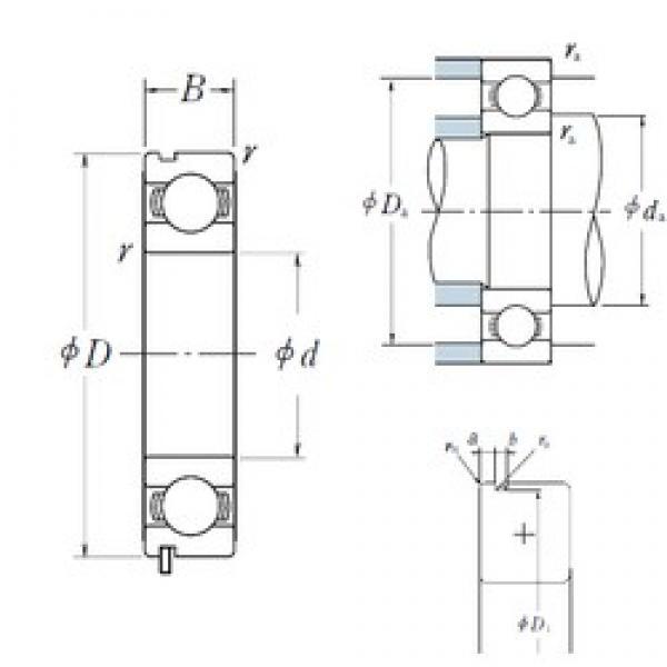 NSK 62/22N deep groove ball bearings #3 image