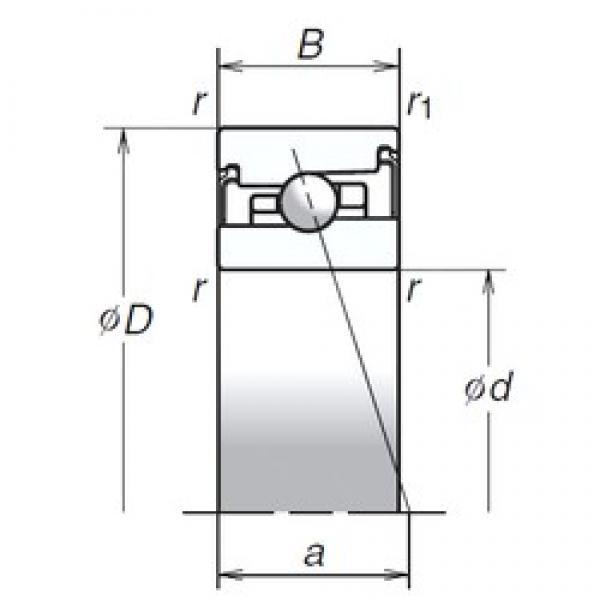NSK 50BER20HV1V angular contact ball bearings #3 image