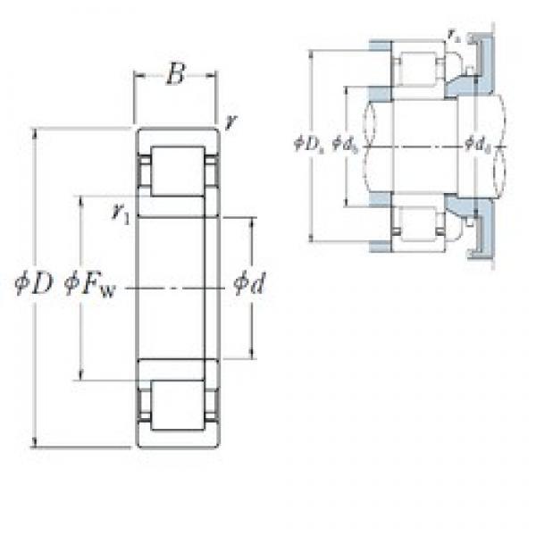 NSK NUP2320 ET cylindrical roller bearings #3 image