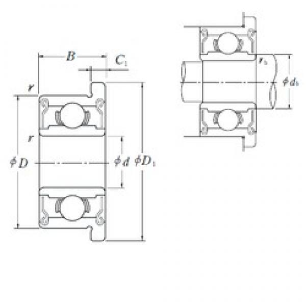 NSK FR 1-4 ZZ deep groove ball bearings #3 image