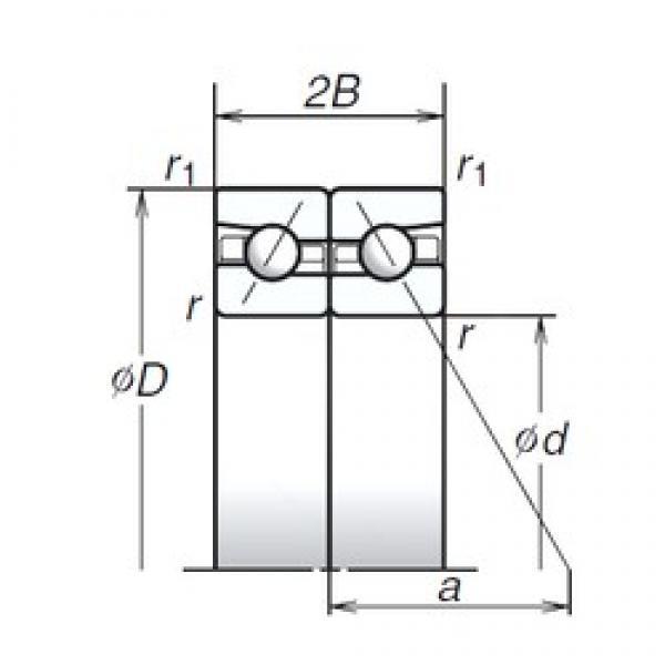 NSK 75BAR10S angular contact ball bearings #3 image