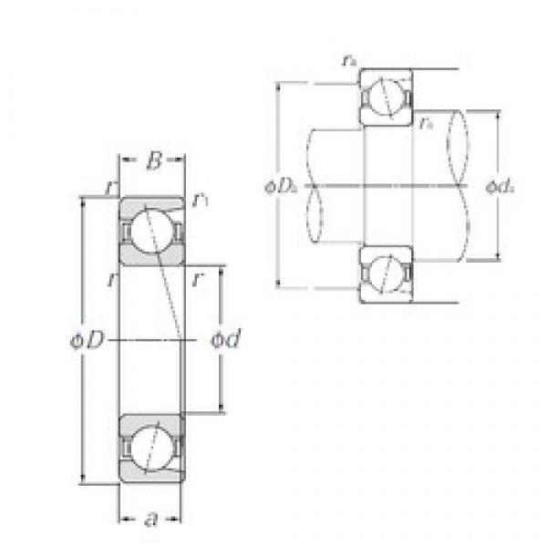 NTN 7307C angular contact ball bearings #3 image