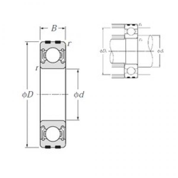 NTN EC-6207LLB deep groove ball bearings #3 image