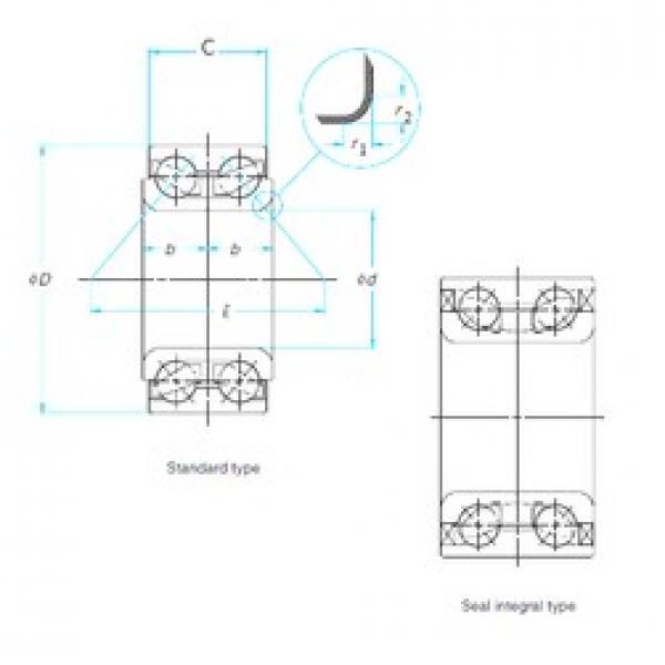 ISO DAC43790041/38 angular contact ball bearings #2 image