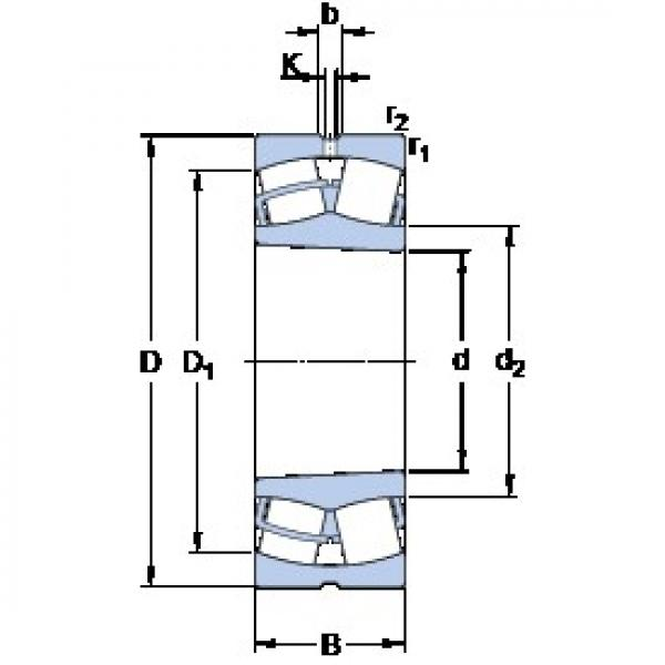 SKF 23038 CCK/W33 spherical roller bearings #2 image